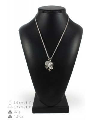 Rottweiler - necklace (silver chain) - 3365 - 34618