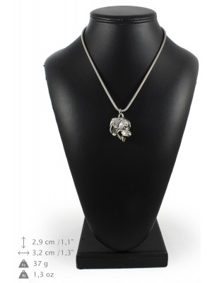 Rottweiler - necklace (silver cord) - 3243 - 33379