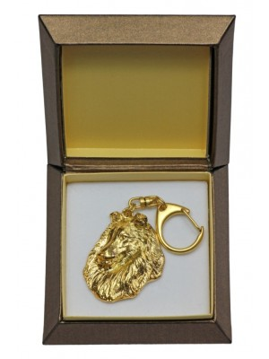 Rough Collie - keyring (gold plating) - 2457 - 27328