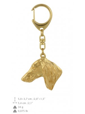Saluki - keyring (gold plating) - 779 - 29078
