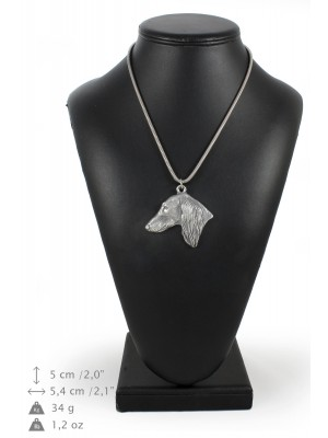Saluki - necklace (silver chain) - 3264 - 34205