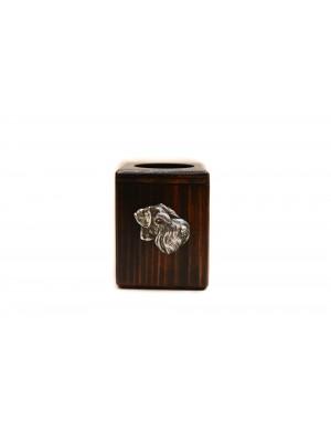 Schnauzer - candlestick (wood) - 4005 - 37930