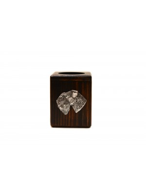 Schnauzer - candlestick (wood) - 4018 - 37995
