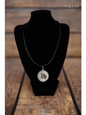 Schnauzer - necklace (silver plate) - 3428 - 34875
