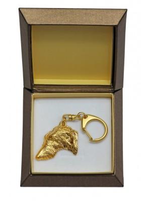 Scottish Deerhound - keyring (gold plating) - 2438 - 27309