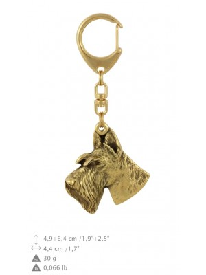 Scottish Terrier - keyring (gold plating) - 801 - 29984