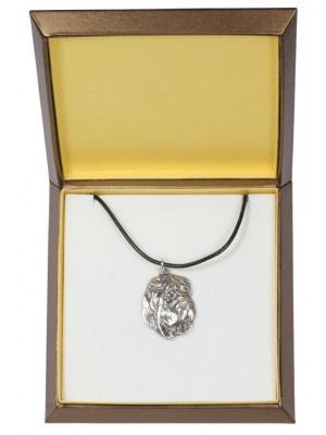 Shar Pei - necklace (silver plate) - 2920 - 31064