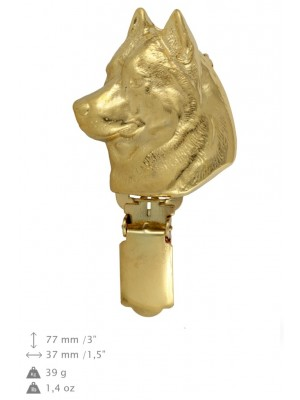 Siberian Husky - clip (gold plating) - 1010 - 26556