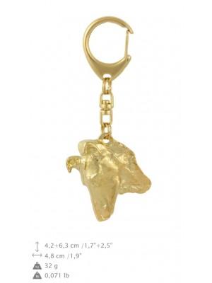 Smooth Collie - keyring (gold plating) - 865 - 30096