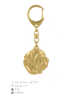 Spanish Mastiff - keyring (gold plating) - 848 - 30055