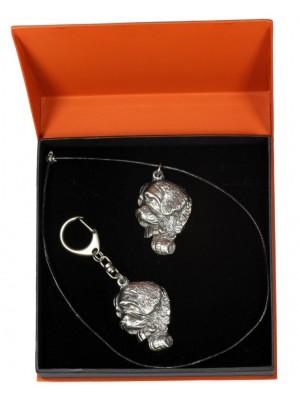 St. Bernard - keyring (silver plate) - 2177 - 20617