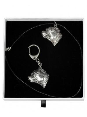 Staffordshire Bull Terrier - keyring (silver plate) - 2034 - 16791