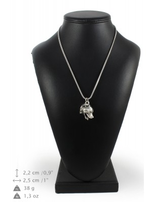 Staffordshire Bull Terrier - necklace (silver chain) - 3314 - 34437