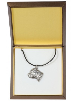 Staffordshire Bull Terrier - necklace (silver plate) - 2944 - 31088