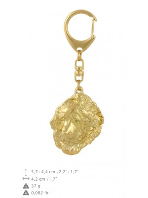 Tibetan Mastiff - keyring (gold plating) - 1736 - 30149