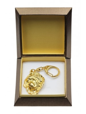 Tibetan Mastiff - keyring (gold plating) - 2888 - 30553