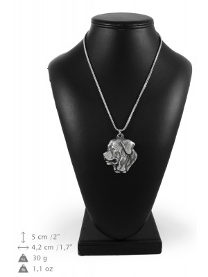 Tosa Inu - necklace (silver chain) - 3373 - 34637