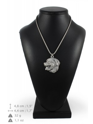Weimaraner - necklace (silver chain) - 3362 - 34613