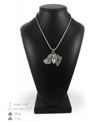 Weimaraner - necklace (silver cord) - 3183 - 33107