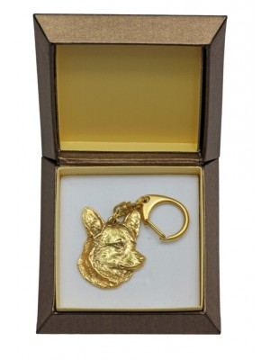 Welsh Corgi Cardigan - keyring (gold plating) - 2435 - 27306