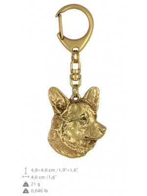Welsh Corgi Cardigan - keyring (gold plating) - 856 - 25232