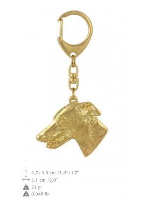 Whippet - keyring (gold plating) - 812 - 29996