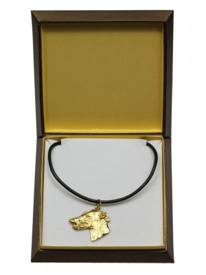 Whippet - necklace (gold plating) - 3037 - 31673
