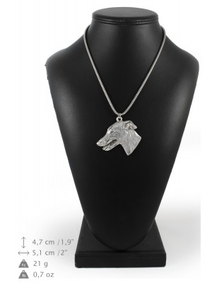 Whippet - necklace (silver cord) - 3173 - 33088