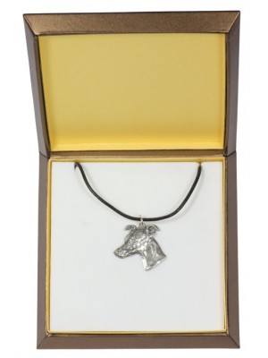 Whippet - necklace (silver plate) - 2924 - 31068