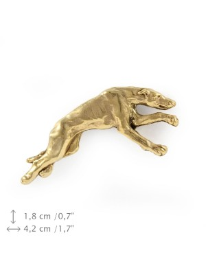 Whippet - pin (gold) - 1566 - 7573