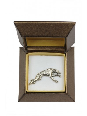 Whippet - pin (silver plate) - 2666 - 28948