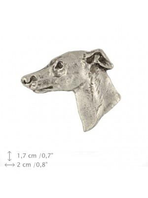 Whippet - pin (silver plate) - 447 - 25877