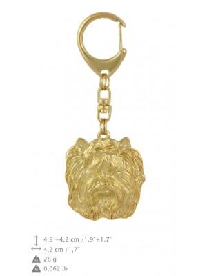 Yorkshire Terrier - keyring (gold plating) - 798 - 29975