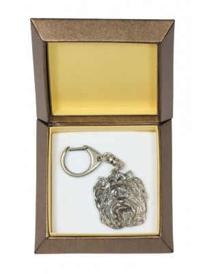 Yorkshire Terrier - keyring (silver plate) - 2733 - 29852