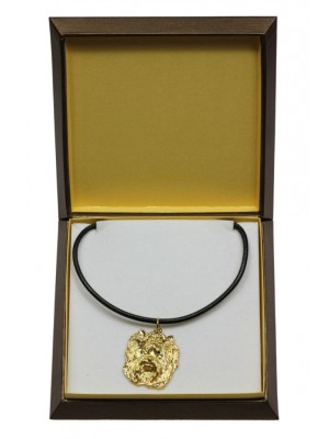 Yorkshire Terrier - necklace (gold plating) - 3033 - 31669