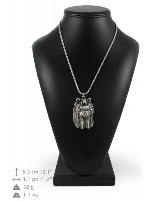 Yorkshire Terrier - necklace (silver chain) - 3368 - 34625