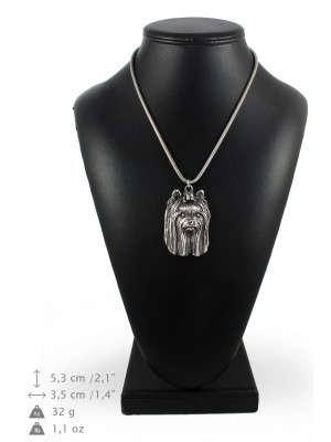 Yorkshire Terrier - necklace (silver cord) - 3246 - 33387