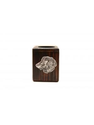 Dachshund - candlestick (wood) - 3983
