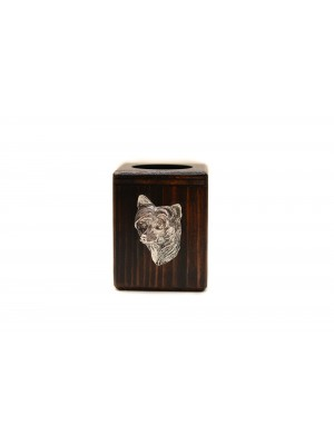 Chinese Crested - candlestick (wood) - 3926