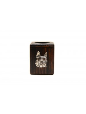 Boston Terrier - candlestick (wood) - 3929