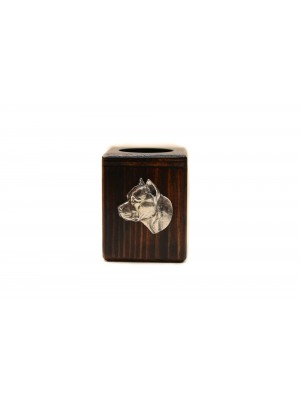 American Staffordshire Terrier - candlestick (wood) - 3935