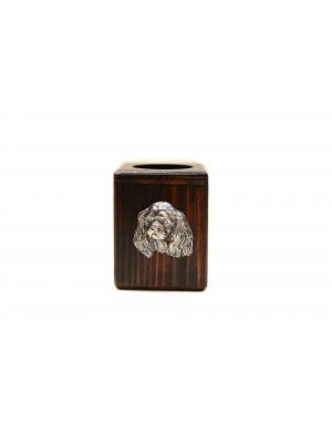 Cavalier King Charles Spaniel - candlestick (wood) - 3945