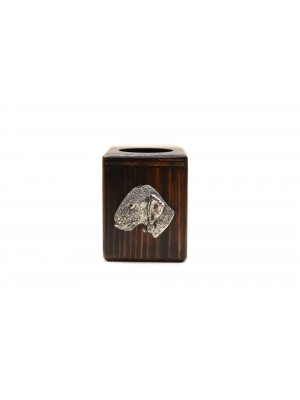 Bedlington Terrier - candlestick (wood) - 3948