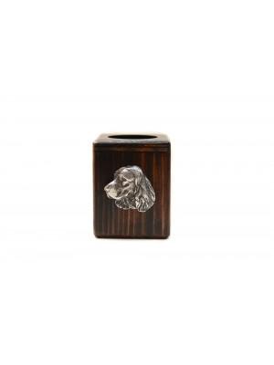 English Springer Spaniel - candlestick (wood) - 3954
