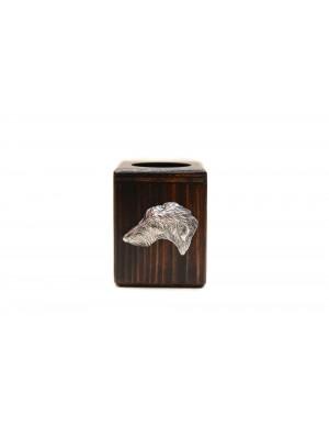 Scottish Deerhound - candlestick (wood) - 3968