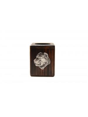 Central Asian Shepherd Dog - candlestick (wood) - 3969 -