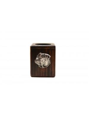 American Bulldog - candlestick (wood) - 3976