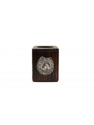 Chow Chow - candlestick (wood) - 3897