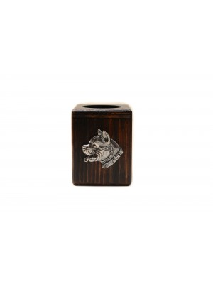 American Staffordshire Terrier - candlestick (wood) - 3906