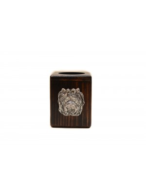 Yorkshire Terrier - candlestick (wood) - 3908